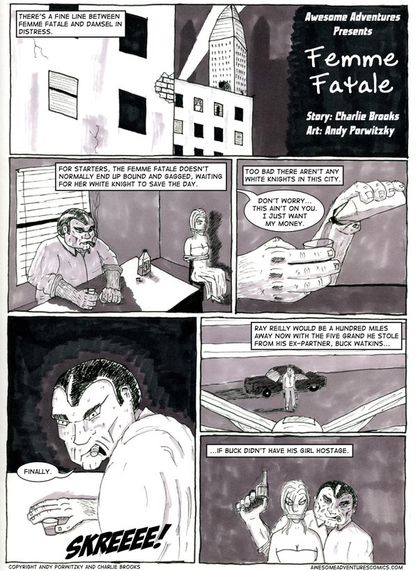 Femme Fatale, page one